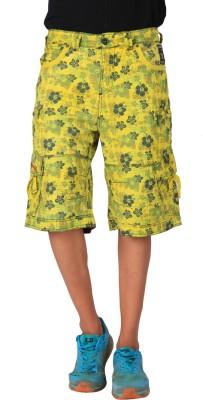 Blacksoul Printed Men's Yellow Cargo Shorts