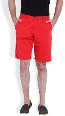 Skie Studio Printed Men's Red Chino Shorts