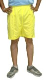 Bodingo Solid Men's Yellow Sports Shorts