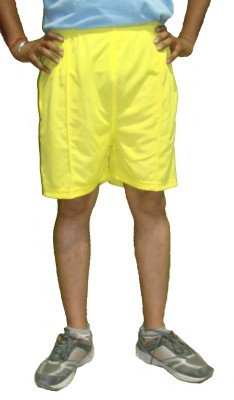 Bodingo Solid Men's Yellow Sports Shorts