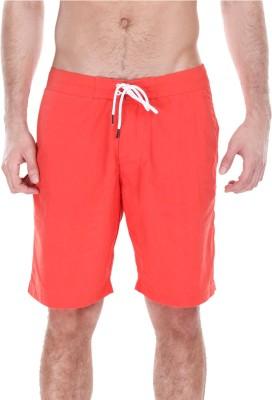 Zobello Solid Mens Orange Swim Shorts