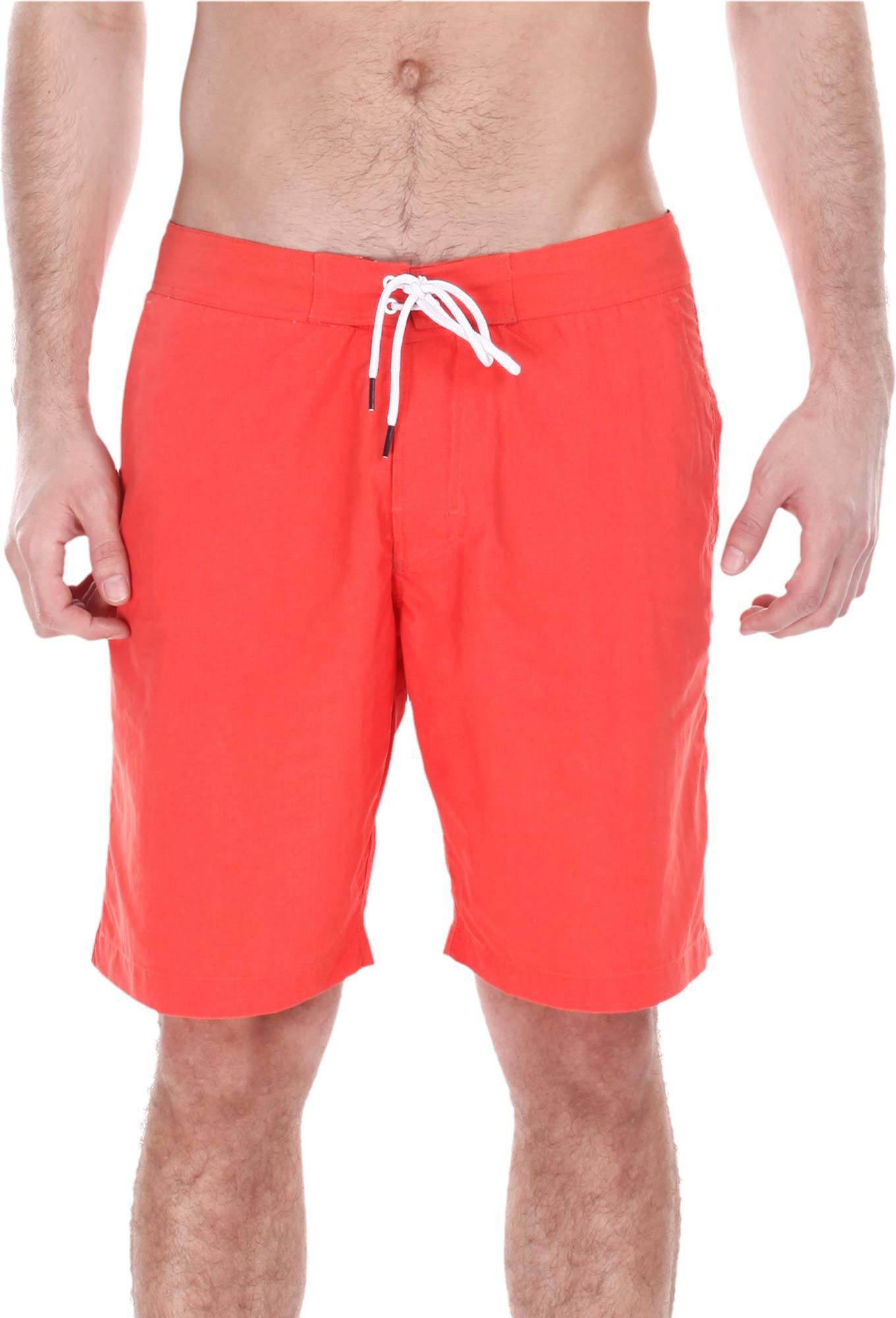 Zobello Solid Mens Orange Swim Shorts