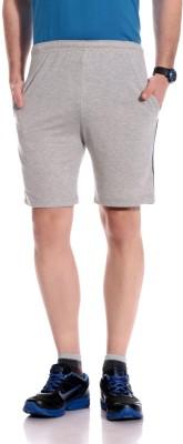 Tab91 Solid Men's Grey Basic Shorts
