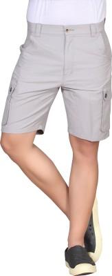 Hi-Sport Solid Men's Grey Basic Shorts
