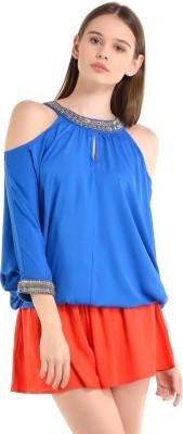 Kazo Solid Women's Orange Basic Shorts