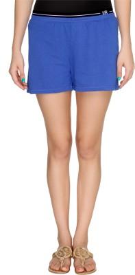 Karishma Solid Women's Blue Basic Shorts