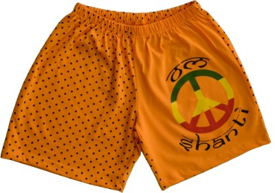 Udankhatola Polka Print Women's Orange Basic Shorts