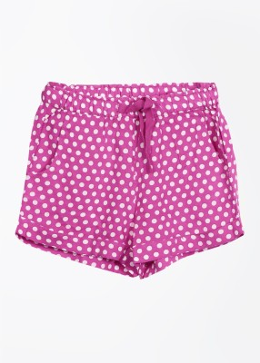 United Colors of Benetton Polka Print Girl's White, Pink Basic Shorts