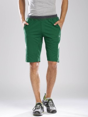 HRX by Hrithik Roshan Solid Men's Green Basic Shorts