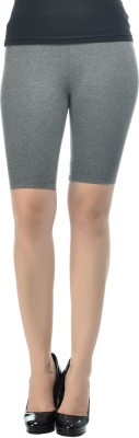Frenchtrendz Solid Women's Grey Chino Shorts