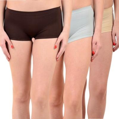 Mynte Solid Women's Black, Blue, Brown Cycling Shorts, Gym Shorts, Swim Shorts