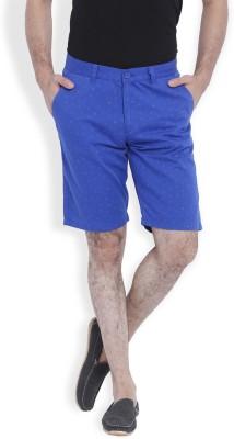 Skie Studio Printed Men's Blue Chino Shorts