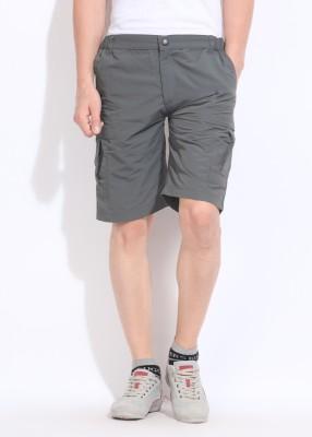 Wildcraft Solid Men's Grey Basic Shorts