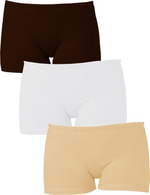 Softrose Solid Women's Brown, Beige, White Sports Shorts