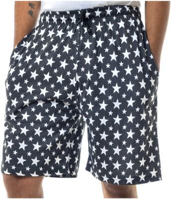 Shootr Printed Men's Black Bermuda Shorts