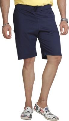 Allocate Solid Men's Dark Blue Sports Shorts, Gym Shorts