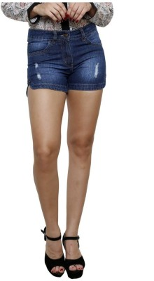 Westwood Solid Women's Dark Blue Denim Shorts