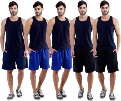 Dee Mannequin Self Design Men's Dark Blue, Blue, Blue, Black, Black Sports Shorts