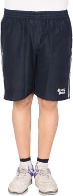 Blue Horse Striped Men's Blue, White Basic Shorts