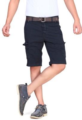 King & I Solid Men's Grey Chino Shorts