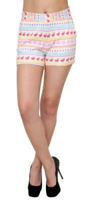 Jake Chiramel Printed Women's Multicolor Hotpants