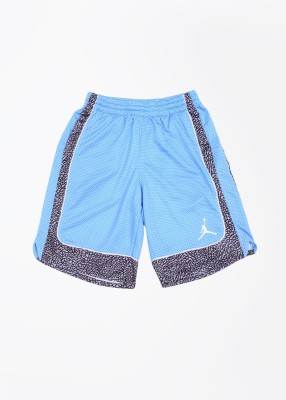 Jordan Kids Printed Boy's White, Black, Grey, Blue Sports Shorts