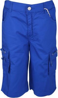 Joshua Tree Solid Boy's Blue Cargo Shorts