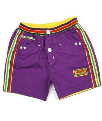 AJ Dezines Self Design Baby Boy's Purple Basic Shorts