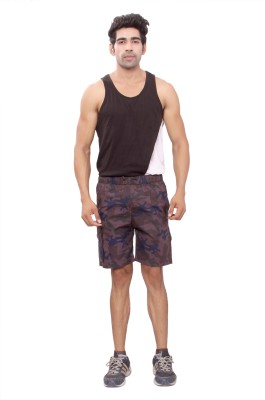 Mountain Colours Printed Men's Multicolor Basic Shorts