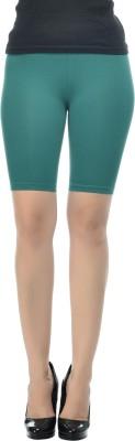 Frenchtrendz Solid Women's Dark Green Chino Shorts