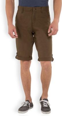 Locomotive Solid Men's Green Basic Shorts
