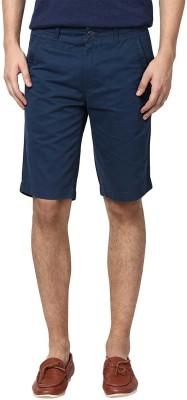 Zess Solid Men's Dark Blue Basic Shorts