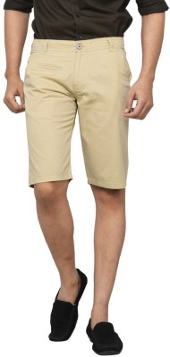 Clickroo Solid Men's Beige Chino Shorts