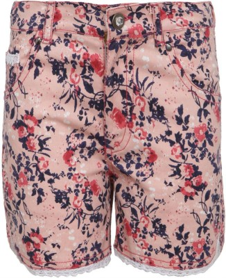 Bells and Whistles Printed Girl's Pink Basic Shorts