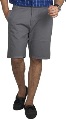 Inspired By Boardriding Solid Men's Grey Basic Shorts