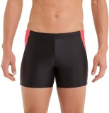 Nabaiji Solid Men's Black, Red Swim Shor...