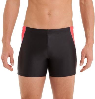 Nabaiji Solid Men's Black, Red Swim Shorts