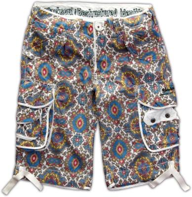 Blacksoul Printed Men's Multicolor Cargo Shorts