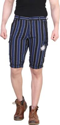 King & I Striped Men's Blue Chino Shorts