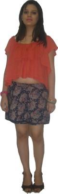 CARMINO CASUALS Printed Women's Blue Baggy Shorts