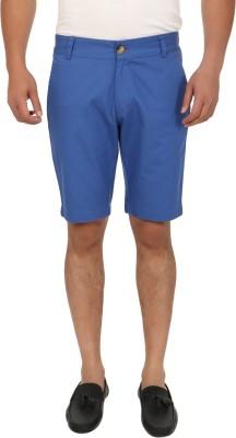 Blimey Solid Men's Light Blue Chino Shorts