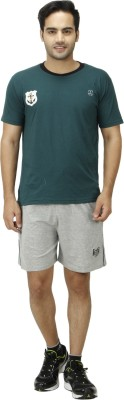1OAK Solid Men's Grey Sports Shorts