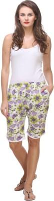 Affair Printed Women's Purple Night Shorts