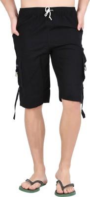 Parade Solid Men,s Black Bermuda Shorts