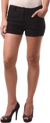 FashionExpo Solid Women,s Black Hotpants