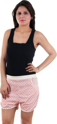 Gwyn Lingerie Graphic Print Women's Pink Basic Shorts