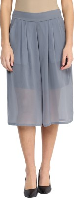 Miss Chase Solid Women's Grey Culotte Shorts