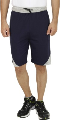 Christy World Solid Men,s Blue Sports Shorts