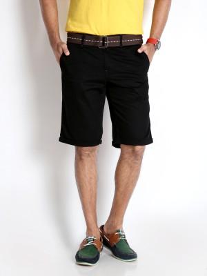 Rodid Solid Men's Black Basic Shorts