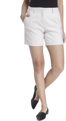 Vero Moda Solid Women's White Basic Shorts at flipkart